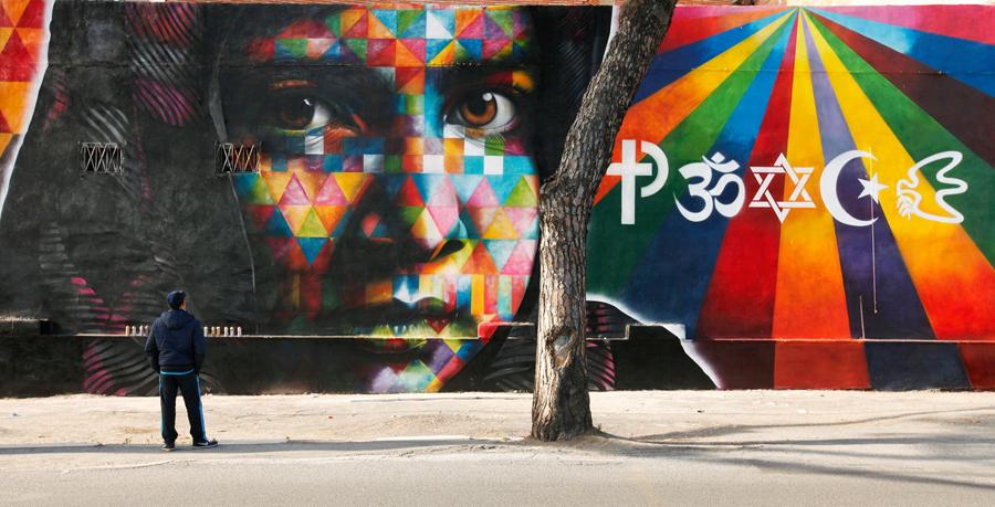 murales pace religioni roma